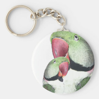 Red Neck Parakeet Products Basic Round Button Keychain
