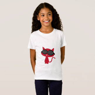Red Neco(Cat) with Sun glass! T-Shirt
