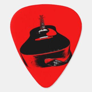 Red Neon Guitar Music Instrument Guitar Pick