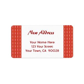 Red New Address Label