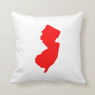 Red New Jersey Throw Pillow