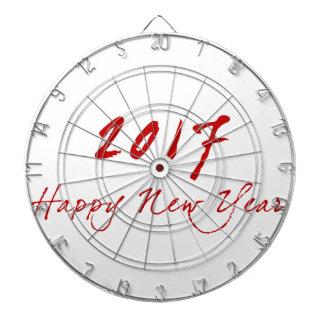 Red New-Year Dartboard