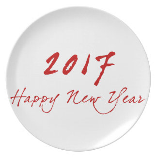 Red New-Year Plate