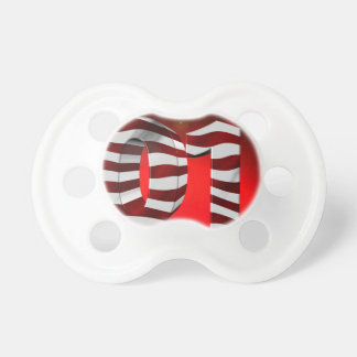 Red New-Years-Day Baby Pacifiers