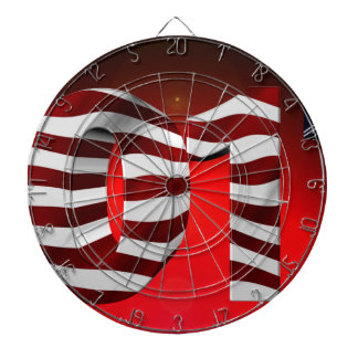 Red New-Years-Day Dartboard