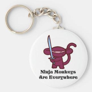 Red Ninja Monkey with Sword Keychain