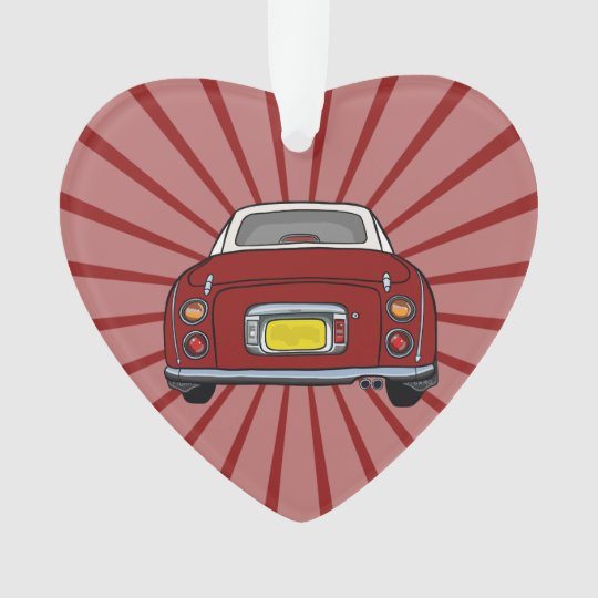 Red Nissan Figaro Car Hanging Ornament