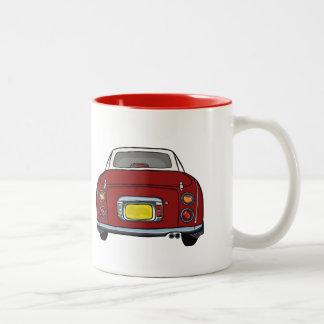 Red Nissan Figaro custom car Mug