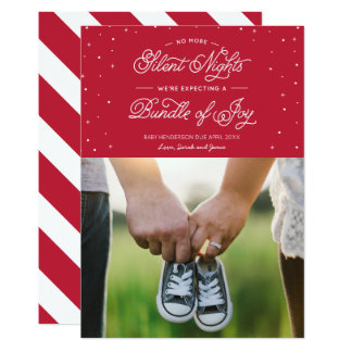 "Red ""No More Silent Nights"" Holiday Photo Card"