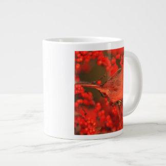 Red Northern Cardinal Male, IL Large Coffee Mug