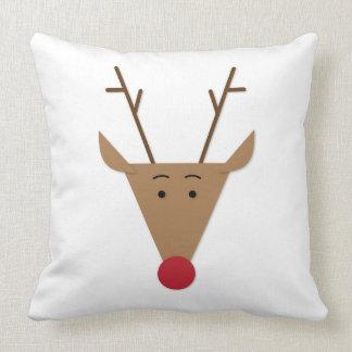 Red Nose Reindeer Christmas Pillow