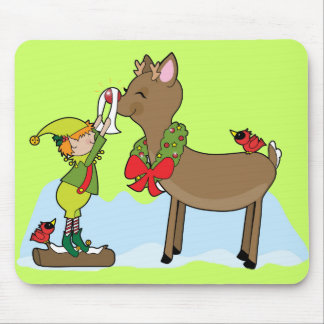 Red Nose Reindeer Mouse Pad