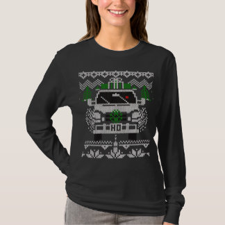 Red Nosed Holiday Van Driver Ugly Sweater Style