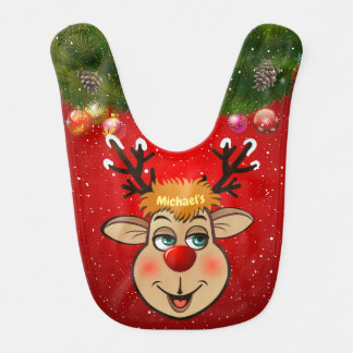 Red-Nosed Reindeer Bib