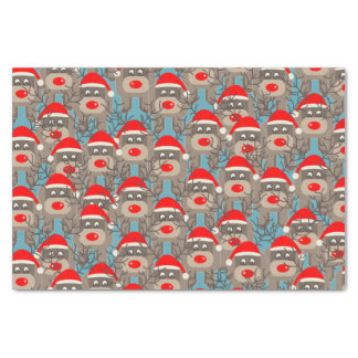 Red Nosed Reindeers Tissue Paper