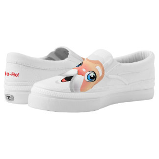 Red Nosed Santa Claus Slip-On Sneakers