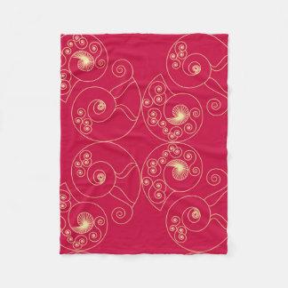 Red Nouveau Fleece Blanket