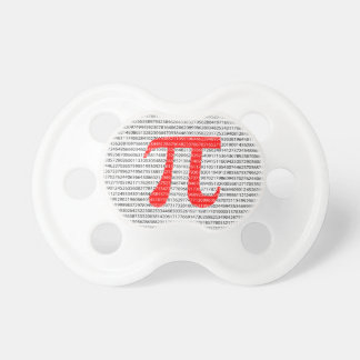 Red Number pi is a mathematical constant symbol Pacifier