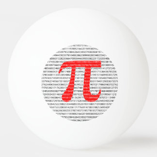 Red Number pi is a mathematical constant symbol Ping Pong Ball