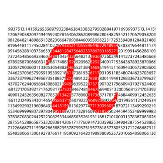 Red Number pi is a mathematical constant symbol Postcard