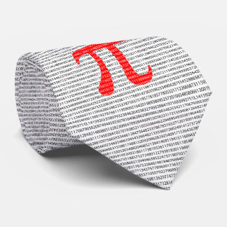 Red Number pi is a mathematical constant symbol Tie