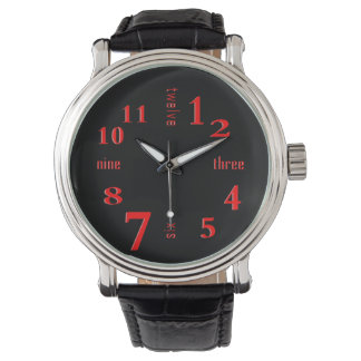 Red Numbers Watch