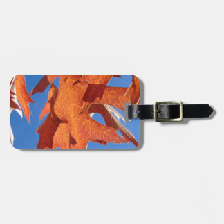 Red Oak Leaves Luggage Tag