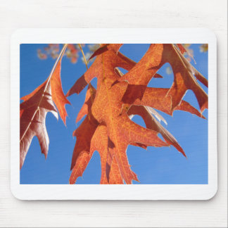 Red Oak Leaves Mouse Pad