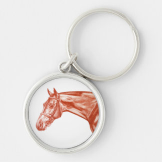 Red Ochre Hunter Horse Keychain