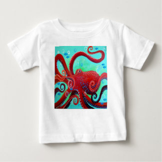 Red Octopus Baby T-Shirt
