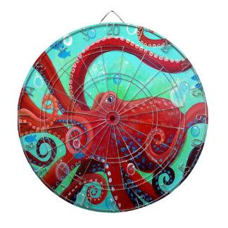 Red Octopus Dartboard