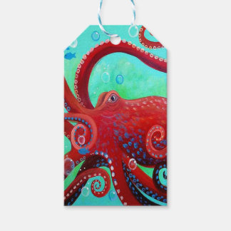 Red Octopus Gift Tags