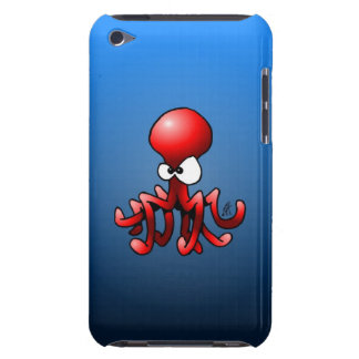 Red octopus iPod touch Case-Mate case