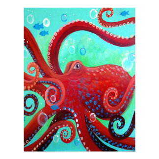 Red Octopus Letterhead
