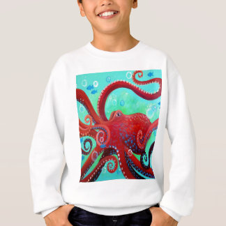 Red Octopus Sweatshirt