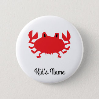 Red of sea crab 2 inch round button