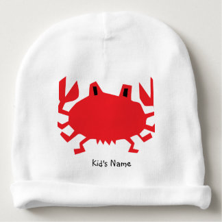 Red of sea crab baby beanie