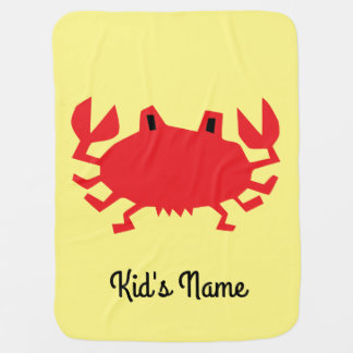 Red of sea crab baby blanket