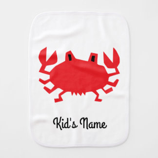 Red of sea crab burp cloth