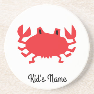 Red of sea crab coaster