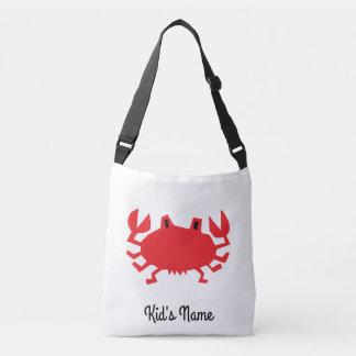 Red of sea crab crossbody bag