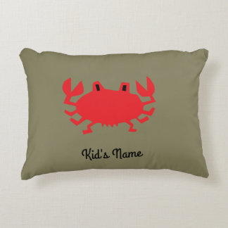 Red of sea crab decorative pillow