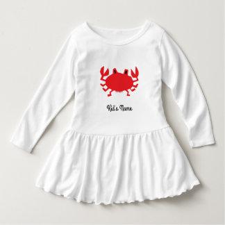 Red of sea crab dress