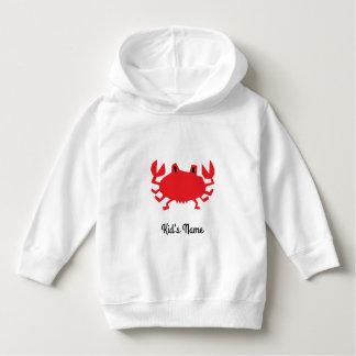 Red of sea crab hoodie