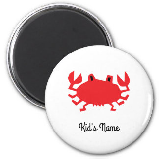 Red of sea crab magnet