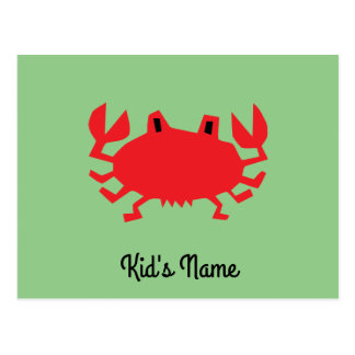 Red of sea crab postcard