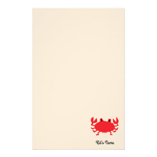 Red of sea crab stationery