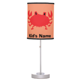 Red of sea crab table lamp