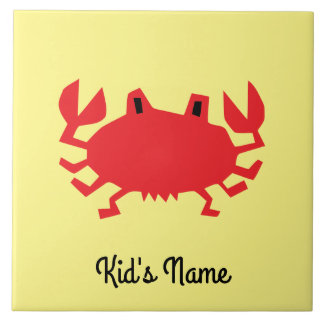 Red of sea crab tile