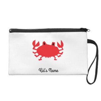 Red of sea crab wristlet purses